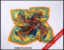 2015 new design turkish silk scarf, hand painted silk scarf, twill silk scarves 90*90cm