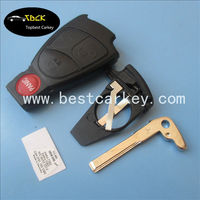 Hot sell 3+1 button smart key case for benz mercedes smart key with battery clip with key tablets