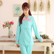 spring lovely best quality 100% polyester pajamas