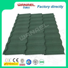 Classical stone coated steel roof shingle/dark grey lightwieght roof materials/Wanale metal roof tiles