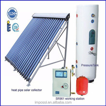 High Efficiency Heat Pipe Solar Thermal Collector System