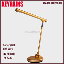 Hotel/Dining Room/ Nickel finish Double Lamp Arms nail table light