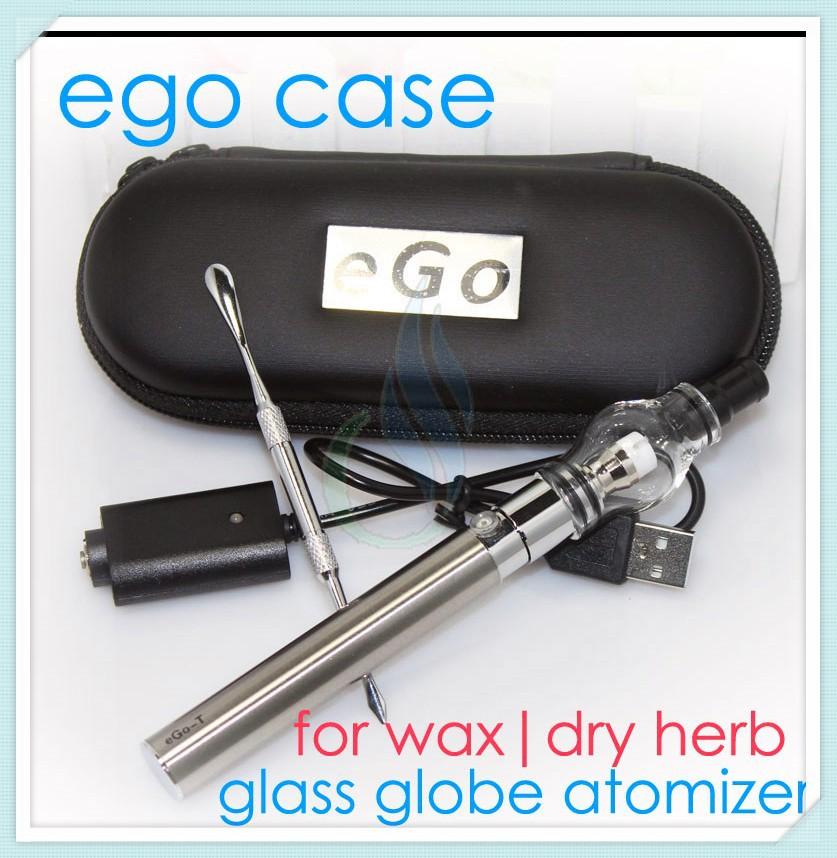 эго стартовый комплект стекла глобус бака воск сухой травы пара Атомайзер pyrex для электронных сигарет ego-t молния случае Клиромайзер