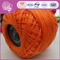 100% hilo de algodón para la mano de ganchillo embarcaciones de trabajo