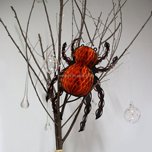 Hanging Halloween Decorations Tissue Paper Pom poms