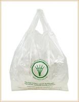 """wholesale vb-4 BioPlastic Standard T-Shirt Bag, 12"""" Length x 21"""" Width x 1.1 mil Thick"""