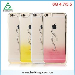 Many Diamond Designs Case For iPhone 6, Plastic Transparent PC Case For iPhone 6