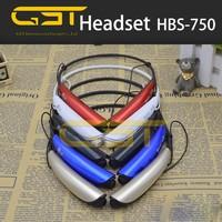 2015 hot model wireless bluetooth headset HBS750 stereo sound bluetooth 4.0