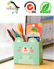 Custom Fashion Cute animal pencil and pen cardboard paper box holder manufacture