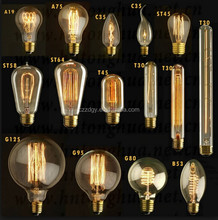 Clear/ Frosted/ Milky Glass led bulb all glass no plastic 2200k dimmable Filament Edison LED Bulb