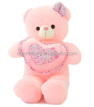 wholesale pure white bear with heart