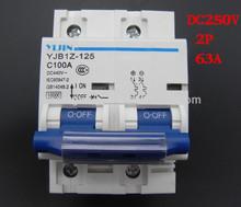 2 P 125A DC 440 V MCB energía Solar fotovoltaica PV Mini Circuit DC interruptor