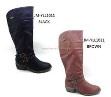 breif diz pu üst rahat düz alçak topuk çizmeler İtalyan kışlık botlar kadın