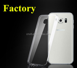clear transparent tpu design mobile phone cases for Samsung S6 G920F