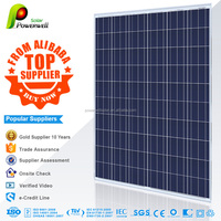 Powerwell Solar With TUV,CE,SGS,CEC,IEC,ISO Standard Cheap Price Per Watt 250W Poly Solar Cell Panels, Portable Solar Panals