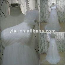 JJ2652 Drop Shipping A-line Tulle skirt One shoulder wedding dress 2012