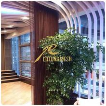 cascade coil drapery for partition in restaurant, hall, hotel etc