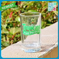 Soft drinking glass juice glass cup middle capacity drinking glass
