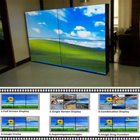 55 inch DID splicing lcd video wall with 3.5mm to 5.3mm very narrow bezel and original LG DID panel stock