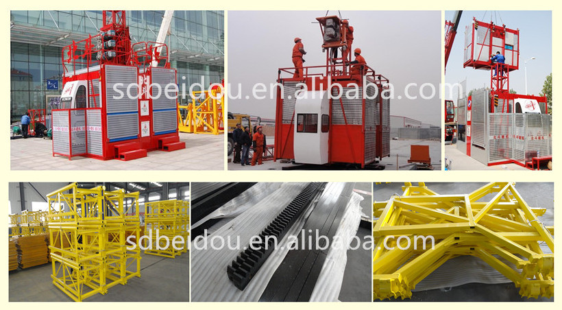 Sc200 / 200 строительство строительный лифт / подъемник / изготовление строительных материалов лифт