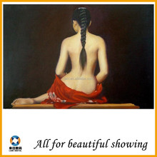 630g large size Super Cotton Matte Oil Painting Sexy Huge Wall Art modern Nude Girl Naked Woman oil painting Canvas