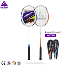 European quality lighten Aluminum racket price of badminton