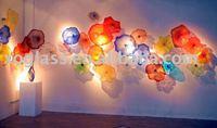 blown glass art wall decoration lighting xo-9091 glass decorative lighting