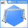 De aluminio ml-103a multifuncional magia escalera paso escalera plegable ajustable paso escalera