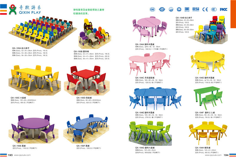 Preschool Square Table And Chairs Kids Billiard Table Colorful Kindergarten C