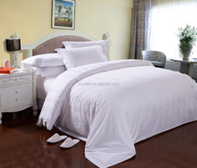 5 star 100% cotton or 50% cotton 50% polyester hotel bed linen /bedding set with jacquard fabric