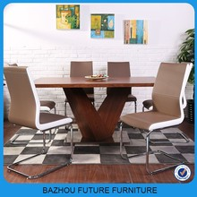 extendable wooden dinning room furniture dining table and chairs