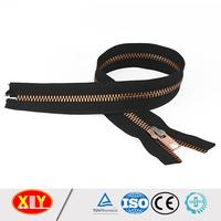 Wholesale price custom zip, fancy rose gold metal zipper