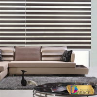 Home decor 100% polyester blackout roller zebra blind double roller shades