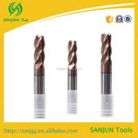 Tungsten micro end mill/brazed carbide wood end mill/solid carbide end mill