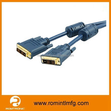 DVI to DVI cable suitable for HDTV, home theater, DVD player, projector