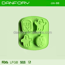 3D halloween silicone mold pumpkin ghost rip for cake decoration