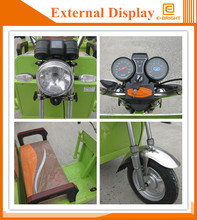 seat electric battery operated three wheel vehicle with rain tent