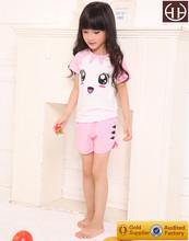 Vestidos de manga corta para Dongguan rosa niños pancarta algodón Modal verano respetuoso del medio ambiente fábricas de ropa