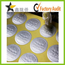 Customized excellent performance adhesive glossy silver stickers