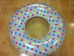 Walmart and Target Trusted Inflatable Colorful Dots Float Ring