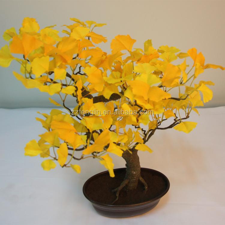 De haute qualit d corative artificielle ginkgo bonsai for Bonsai artificiel grande taille