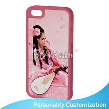 For Iphone 5 Sublimation Blank Phone Case 2D fashion phone case with usb data cable