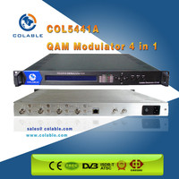 4 IN 1 cable tv modulator digital tv 4 QAM out cable tv modulator