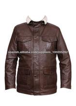 chaqueta de cuero de moda para hombres hechos de cuero de oveja original / artículos de cuero en asia / prendas de moda
