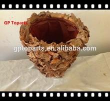 rattan artesanato de casca de árvore material chape lavanderia cesta de madeira artesanato usado para a decoração do jardim