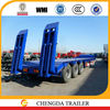 60ton low bed semi trailer and truck trailer with factory price