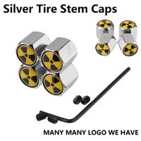 Anti Theft Car Wheel Tire Valve Stem Air Cover Caps 4 Pcs/set
