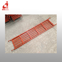 scaffolding parts painted planks