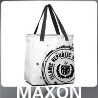 New design style canvas duffel bag/blank canvas bag/canvas tote bag rope handle