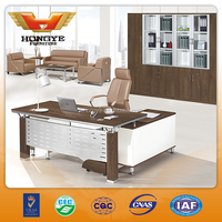 2015 newly design L-shaped metal legs office desk HY-JT08